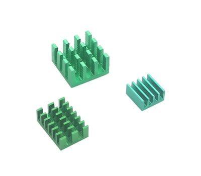 Набор 3 шт. зелёных алюминиевых радиаторов для Raspberry Pi 4