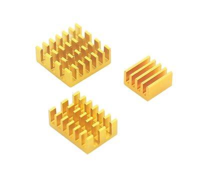 Набор 3 шт. жёлтых алюминиевых радиаторов для Raspberry Pi 4