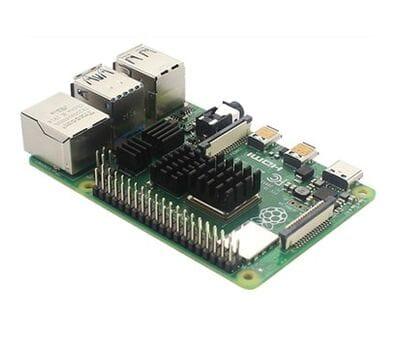 Набор 4 шт. чёрных алюминиевых радиаторов для Raspberry Pi 4