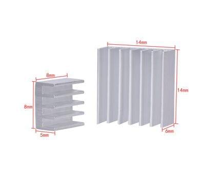 Набор алюминиевых радиаторов на термоскотче