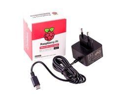 Официальный блок питания для Raspberry Pi 4 USB-C 5V 3A чёрный