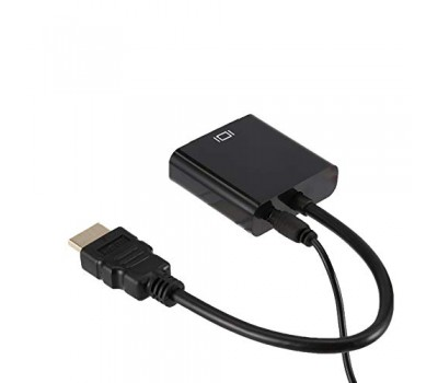 Конвертер HDMI to VGA с аудио 3.5 mm чёрный