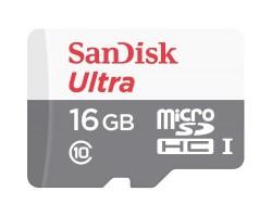 Карта памяти SANDISK 16GB microSD Class 10 UHS-I Ultra (SDSQUNS-016G-GN3MN)