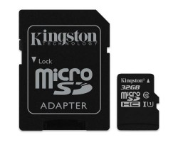 Карта памяти Kingston 32GB microSDHC class 10 UHS-I (SDCS/32GB)