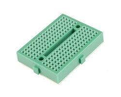 Мини-макетная плата SYB-170 (170 точек) зелёная