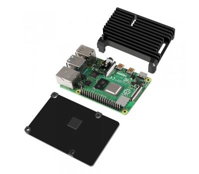 Корпус из алюминия для Raspberry Pi 4 чёрный