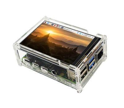 Прозрачный акриловый корпус для Raspberry Pi 4