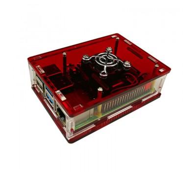 Красный корпус для Raspberry Pi 4 с поддержкой кулера