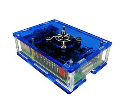 Синий корпус для Raspberry Pi 4 с поддержкой кулера