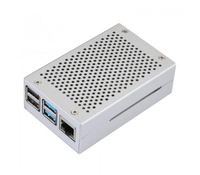 Алюминиевый корпус с перфорацией для Raspberry Pi 4 серый