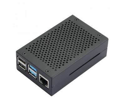 Алюминиевый корпус с перфорацией для Raspberry Pi 4 чёрный
