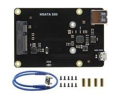 Плата расширения SSD mSATA X850 V3.0 USB 3.0 для Raspberry Pi