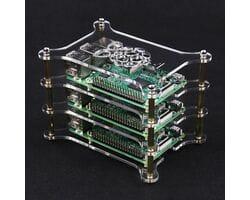 Модульный акриловый корпус для трёх Raspberry Pi
