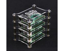 Модульный акриловый корпус для четырёх Raspberry Pi