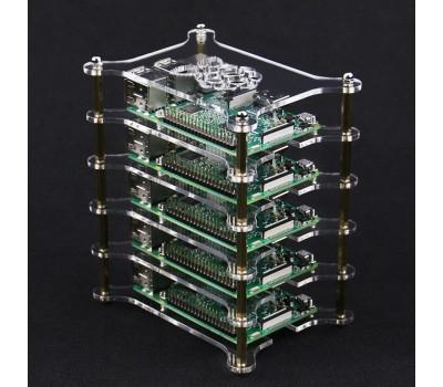 Модульный акриловый корпус для десяти Raspberry Pi