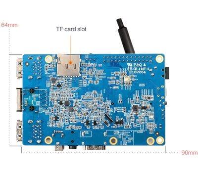 Orange Pi 3 H6 2GB ОЗУ / 8GB eMMC