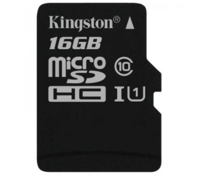 Карта памяти Kingston 16GB microSDHC class 10 UHS-I (SDCS/16GBSP)