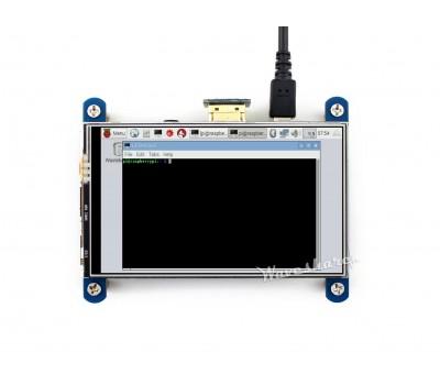 Дисплей Waveshare 4 дюйма 800x480 HDMI LCD резистивный тачскрин IPS-матрица