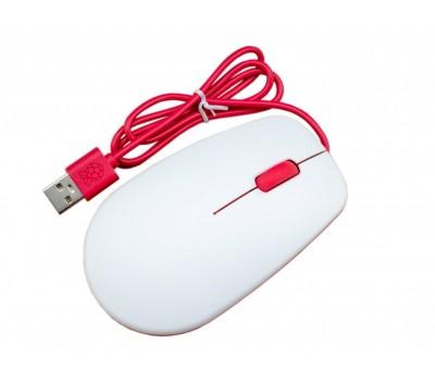 Официальная мышь Raspberry Pi (бело-красная)