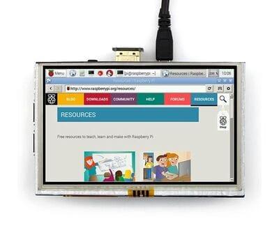 Дисплей HDMI 5 дюймов резистивный тачскрин разрешение 800*480