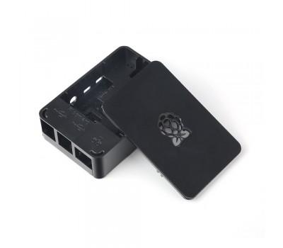 Чёрный пластиковый корпус с логотипом Raspberry Pi 4B