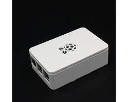 Белый пластиковый корпус с логотипом Raspberry Pi 4B