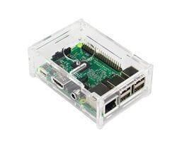 Прозрачный акриловый корпус с местом под кулер для Raspberry Pi